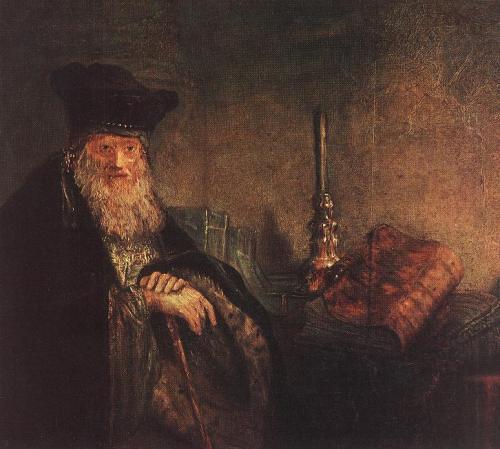 rembrandt van rijn_old_rabbi_detail