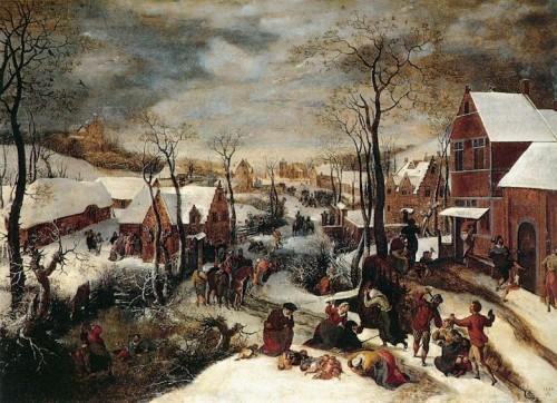 Lucas van Valkenborch Matanza de los inocentes