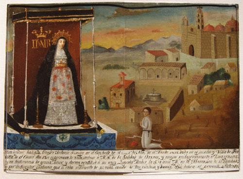 ex voto de la basilica de la soledad de oaxaca