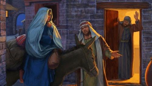maria y jose buscan refugio en belen