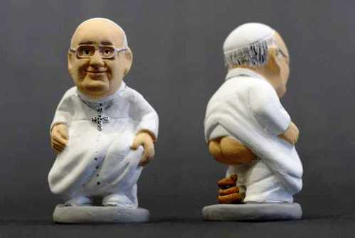 papa francisco caganer