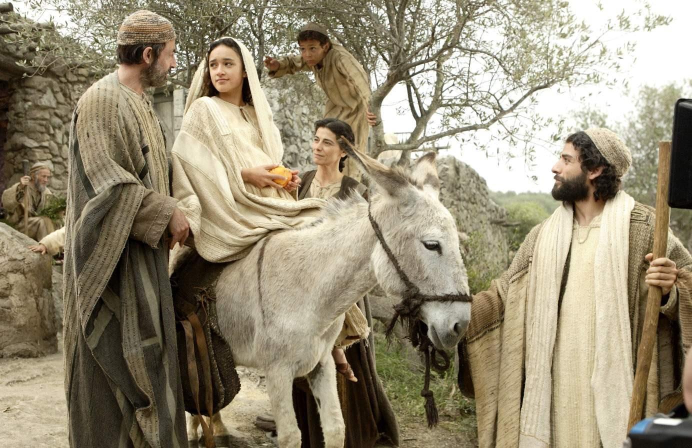 Resultado de imagen para la virgen maria hacia belén preñada de Jesús