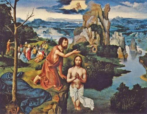 BAUTISMO DE CRISTO.-Joachim Patinir