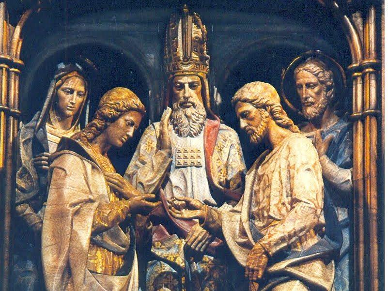 Virgen Matrimonio Biblia : El misterio del anillo de bodas la virgen maría con san
