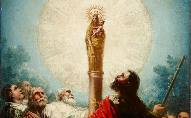 María se Aparece [en vida] al Apóstol Santiago en España