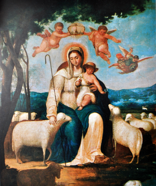 Primera imagen que se conoce de la Divina Pastora. Juan Lovera 1820