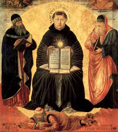 San Tomás de Aquino y heréticos Benozzo Gozzoli