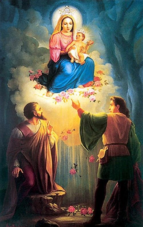 aparicion de la virgen de las rosas
