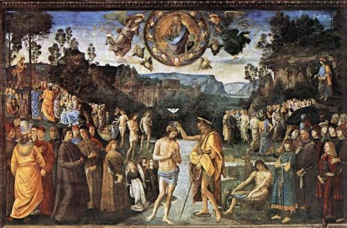 bautismo de jesus perugino capilla sixtina