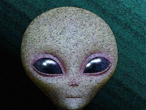 cara de un extraterrestre