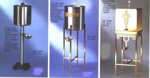 dispensadores de agua bendita