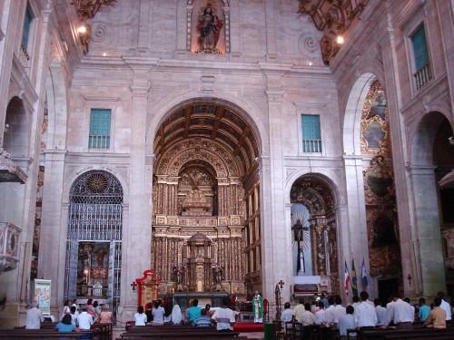 interior de la catedral de el salvador baia