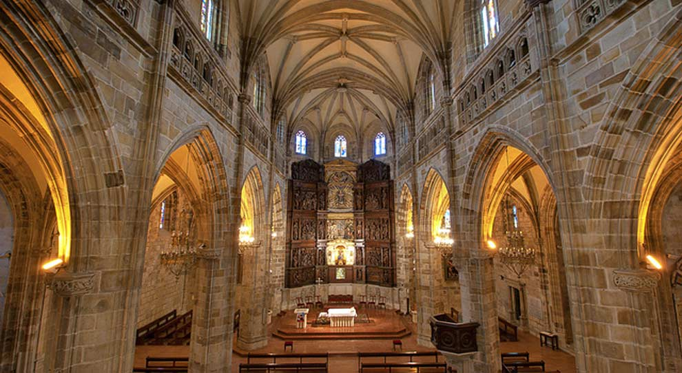 Santa María de Portugalete, un hito en el Camino de Santiago, España (febrero)