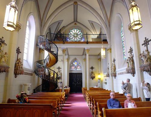 capilla de loreto con la escalera atras