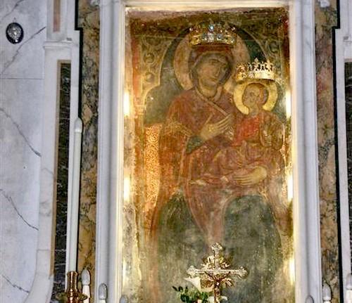 cuadro original de madonna della scala massafra