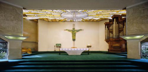interior del santuario de edsa