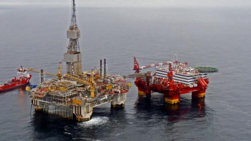 plataforma de petroleo en mar de noruega