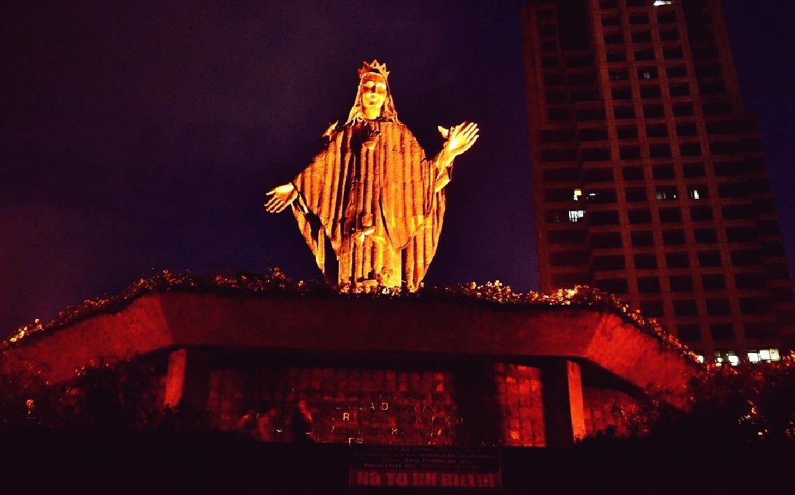 María Protegió una Insurrección Pacífica: Maria Reina de la Paz, Quezon City, Filipinas (25 de febrero)