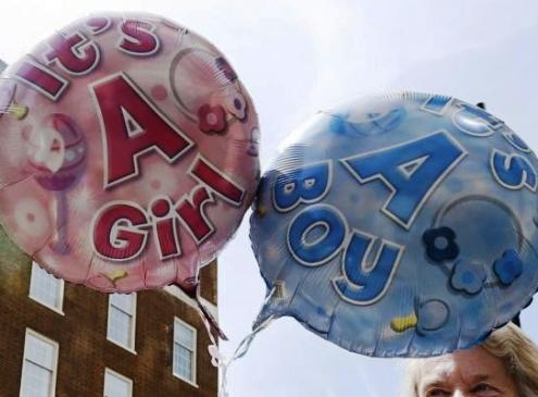 globos de masculino y femenino