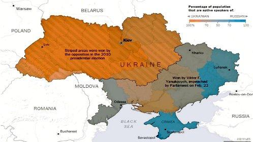 mapa de ucrania por zonas