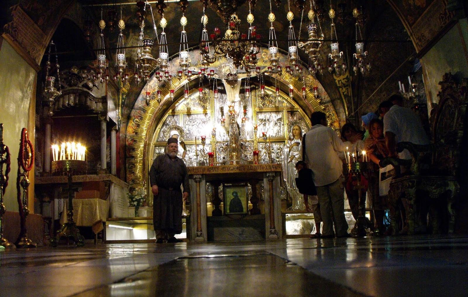 El Santo Sepulcro, donde está el sitio de la Crucifixión de Jesús