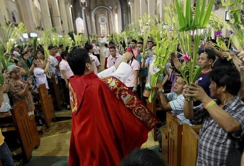 bendicion de ramos en domingo de ramos