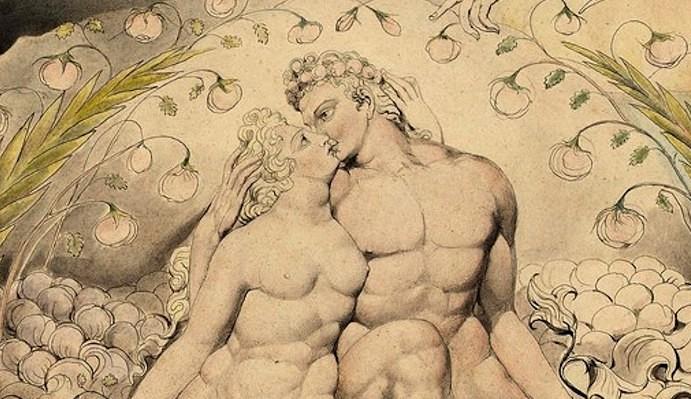 dibujo de hombre y mujer besandose