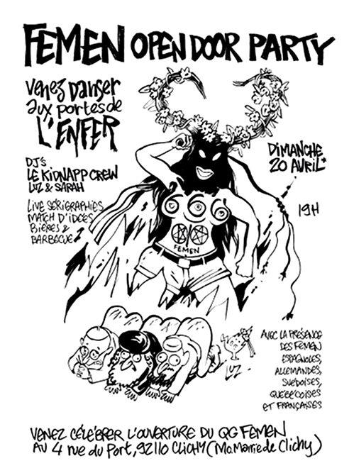 femen francia pascua satanismo