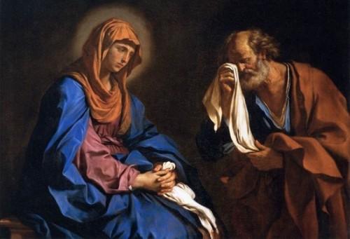 maria y pedro lloran a jesus muerto