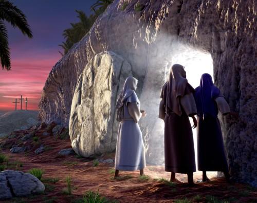 mujeres ante la puerta del sepulcro