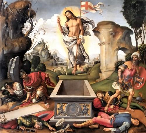 pintura de la resurrección de jesus