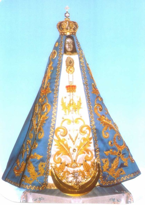virgen del valle de pie