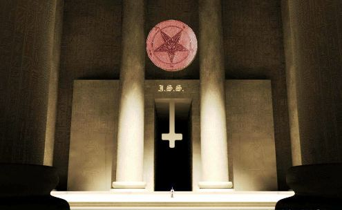 altar de misa satanica