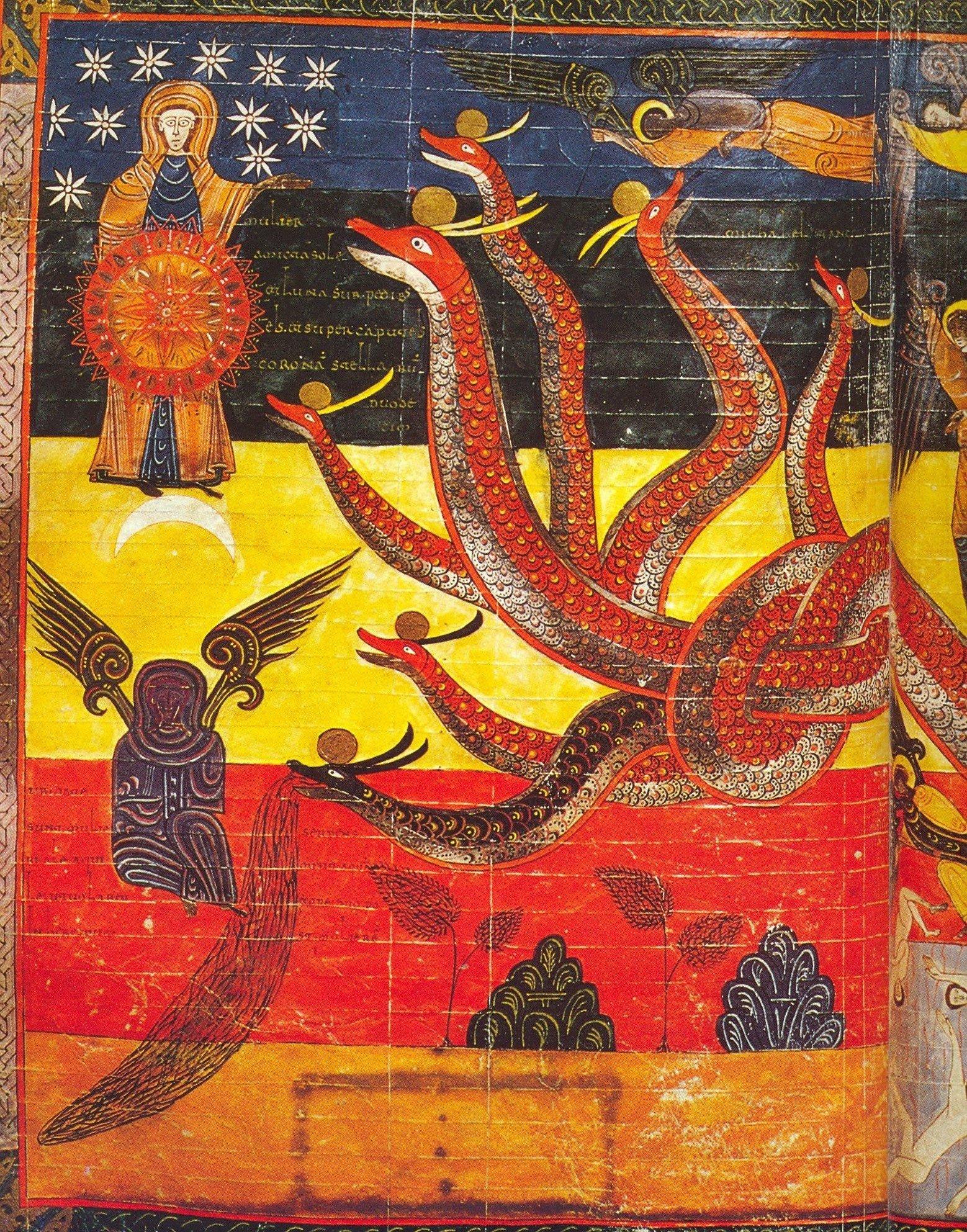 ... las siete cabezas y los diez cuernos de la UE ... Apocalipsis-arte-mariano-B-Facundus