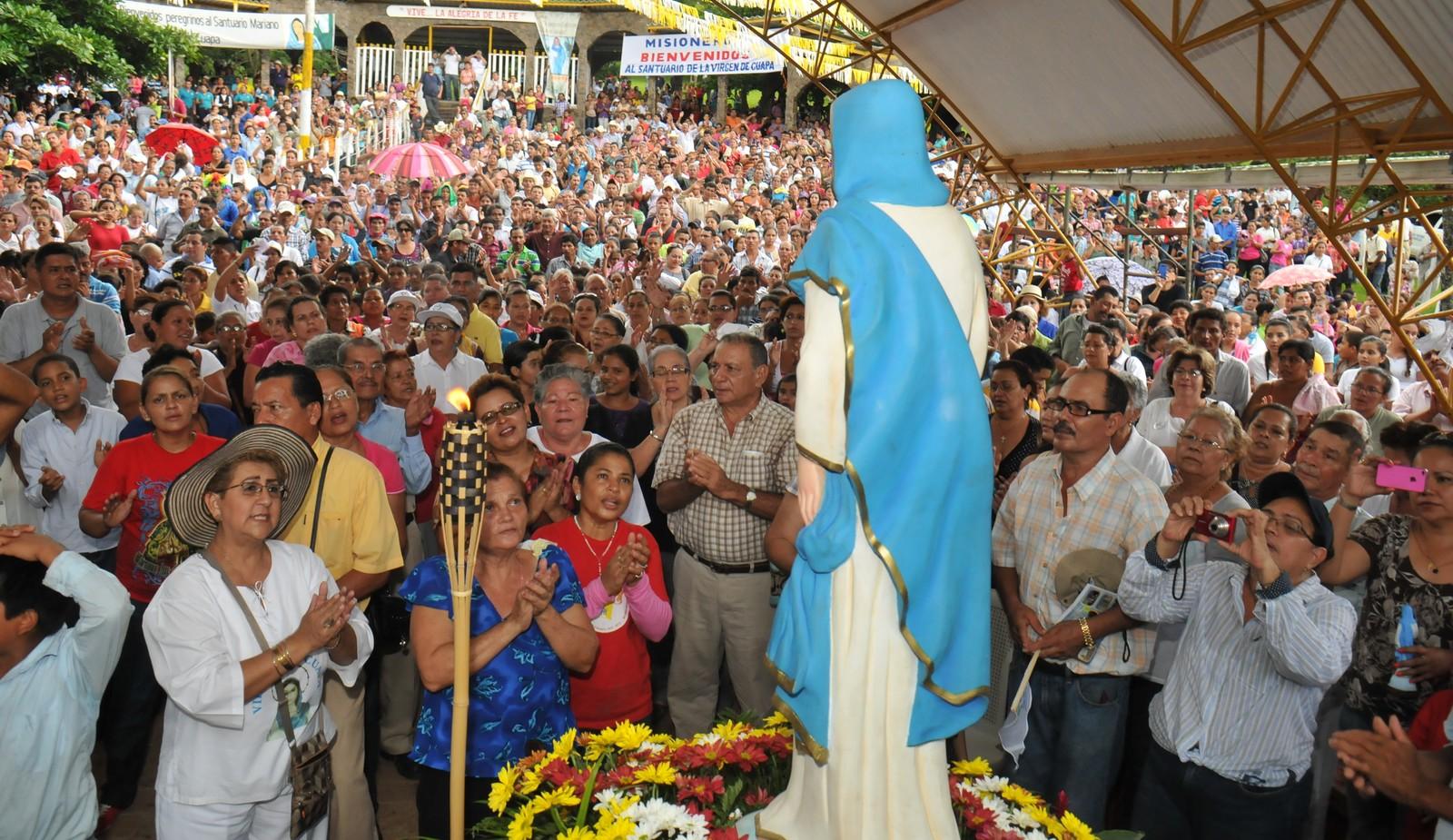 Resultado de imagen para Nicaragua aparición de la Virgen de Cuapa.
