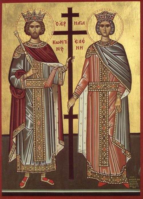 icono bizantino de elena y constantino