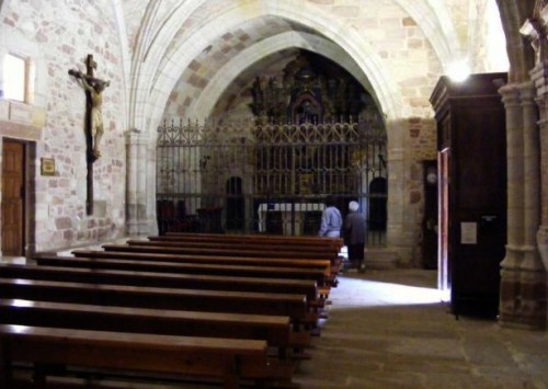 interior de la ermita de la hoz