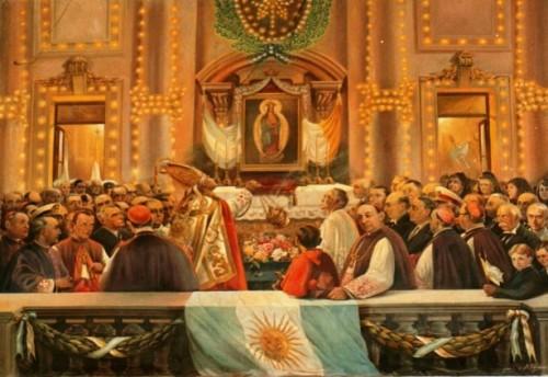 pintura del milagro de santa fe