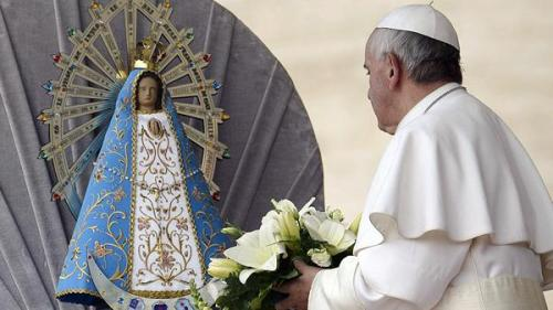 virgen de lujan y papa francisco