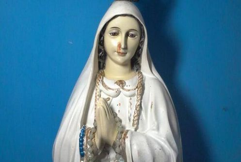 virgen que llora sangre en cacar city filipinas