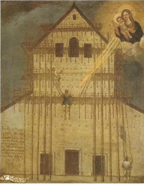 Madonna-dellorto rajadura de la pintura