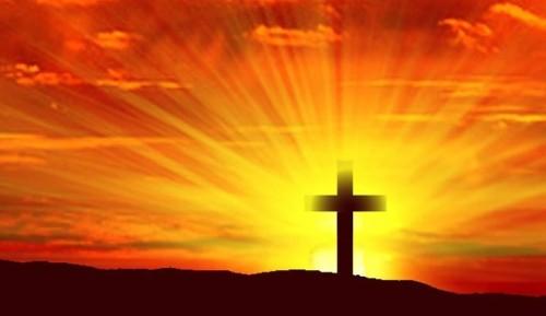 cruz al amanecer fondo