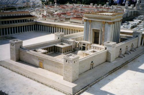 maqueta del templo de salomon