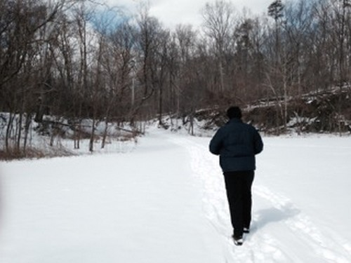 mi hijo esquiando