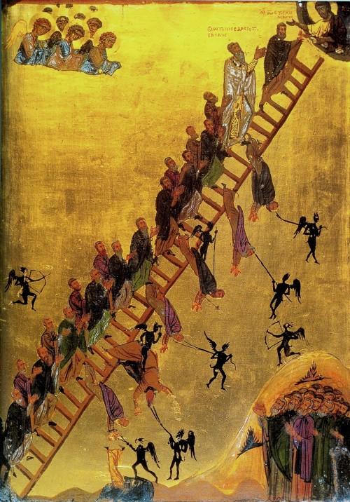 personas caen de la escalera al cielo fondo