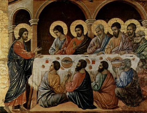 ultima cena Duccio di Buoninsegna fondo