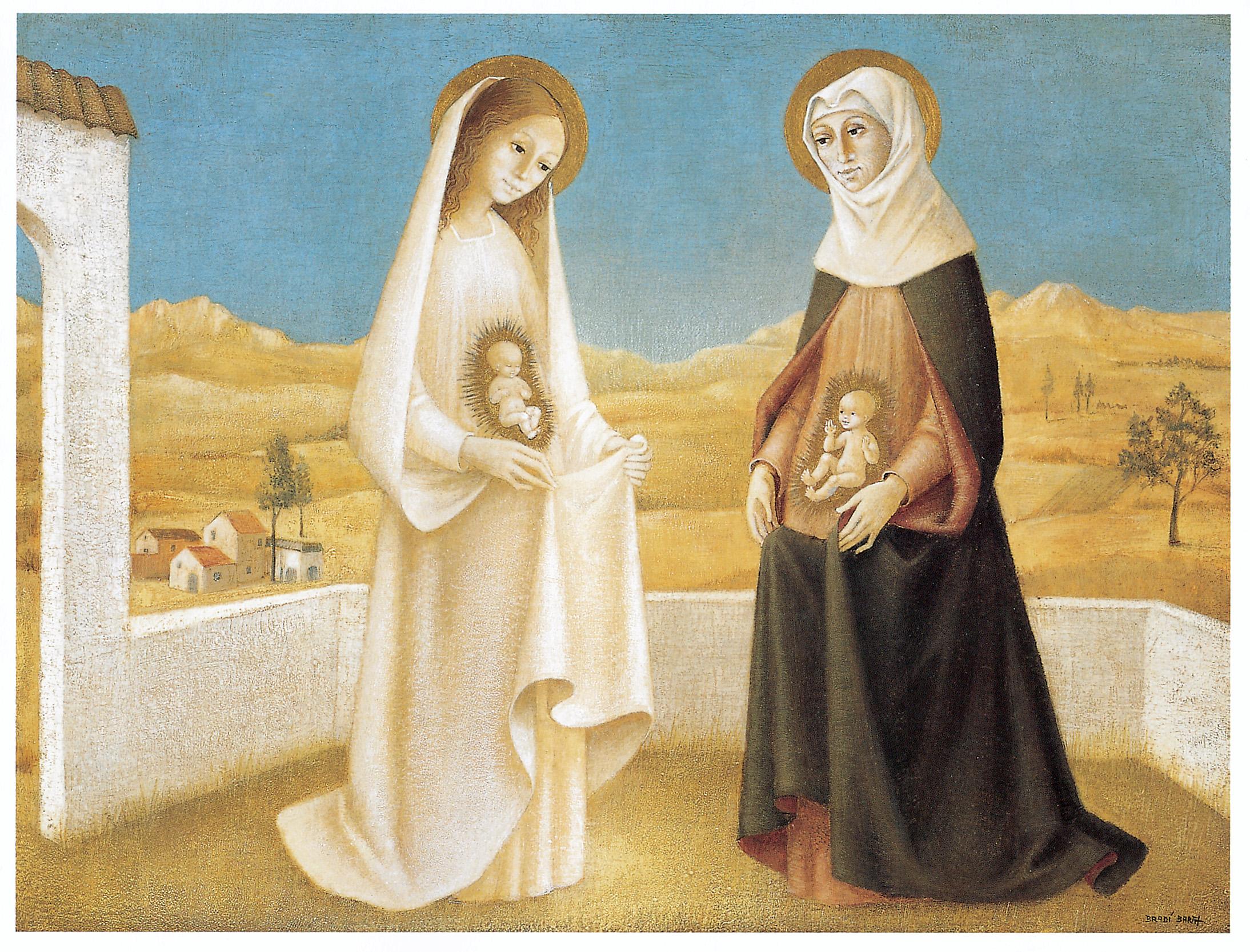 Fiesta de la Visitación de María, 1º encuentro de Jesucristo y su Precursor: (31 may, 2 jul)