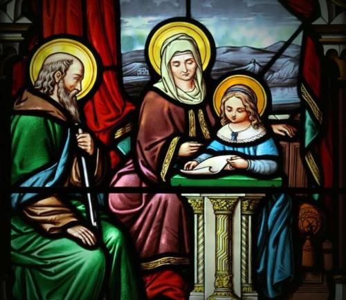 vitral maria san joaquin santa ana