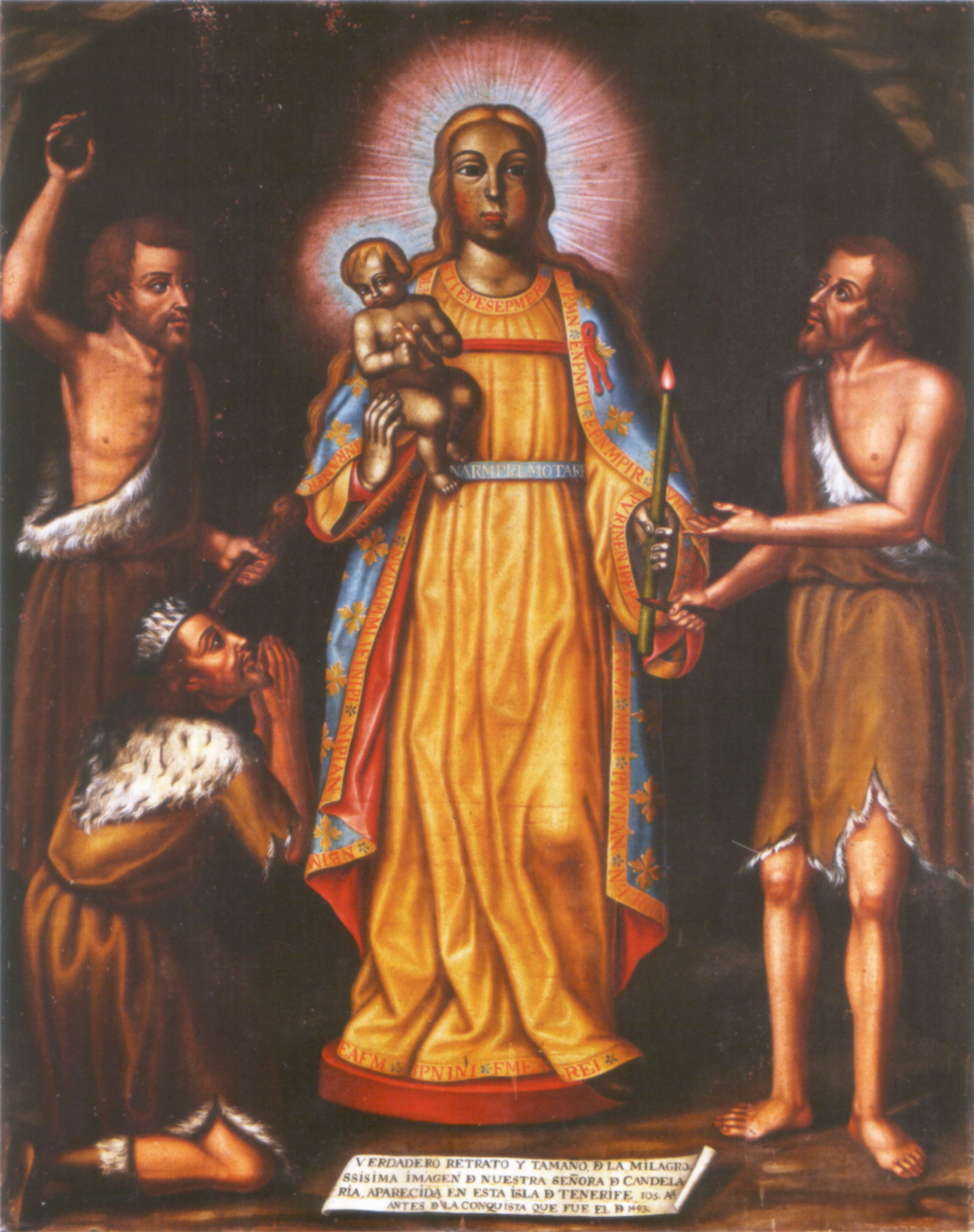 Virgen de la Candelaria de Islas Canarias, presidió la Colonización de América, España (2 feb, 15 ago)