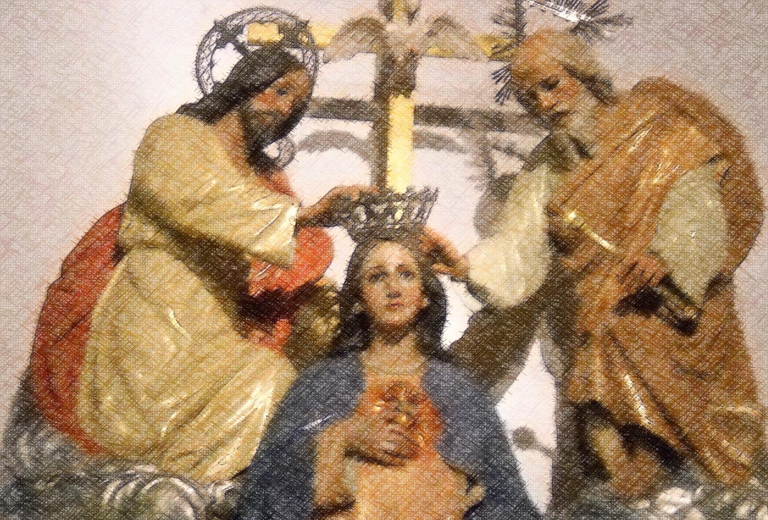 Jesús se Aparece para Instaurar la Devoción a la Victoriosa Reina del Mundo